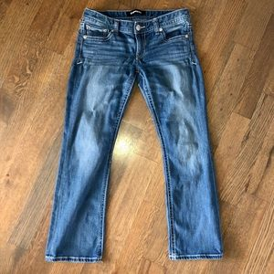 Express Low Rise Barely Boot Cut Jeans